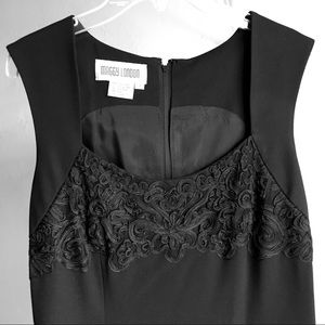 Maggy London Sleeveless Black Poly Dress Sz8 $10